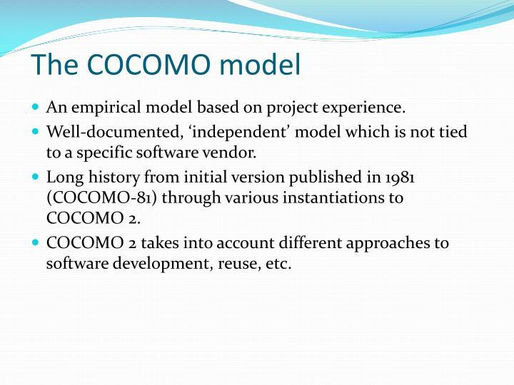 The cocomo model