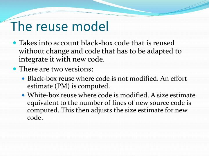 The reuse model
