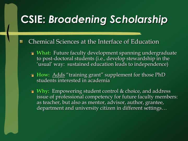 Csie broadening scholarship