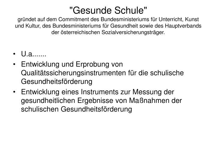 """""""Gesunde Schule"""""""