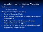 voucher entry contra voucher