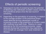 effects of periodic screening1