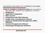 advanced functions of e commerce software
