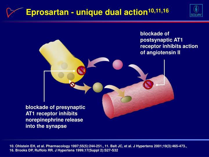 Eprosartan - unique dual action