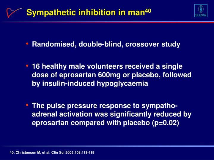 Sympathetic inhibition in man