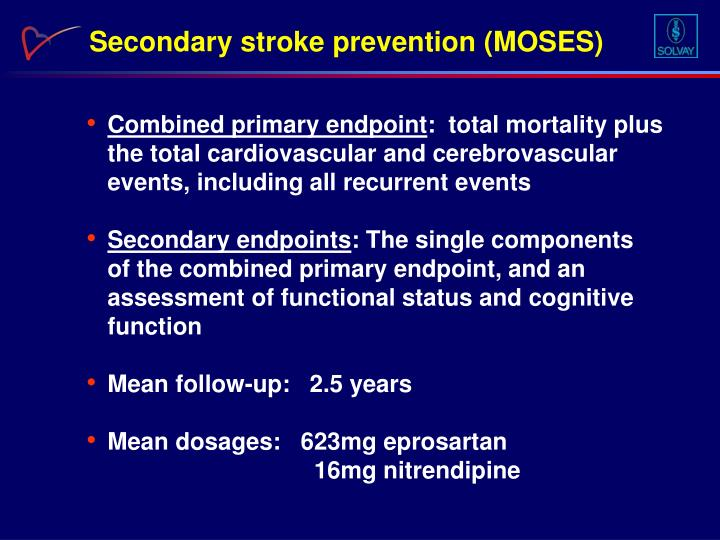 Secondary stroke prevention (MOSES)