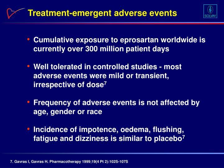 Treatment-emergent adverse events