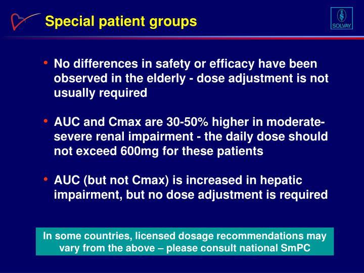 Special patient groups