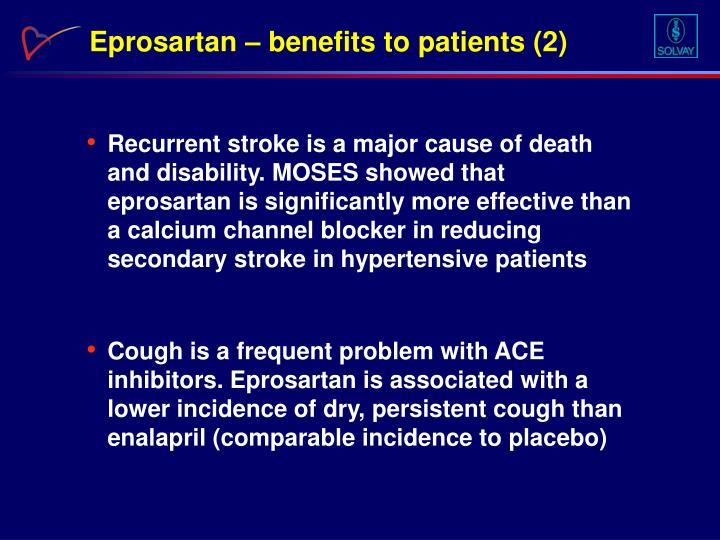 Eprosartan – benefits to patients (2)