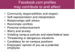 facebook com profiles may contribute to and affect