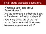 small group discussion questions