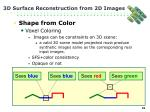 3d surface reconstruction from 2d images20