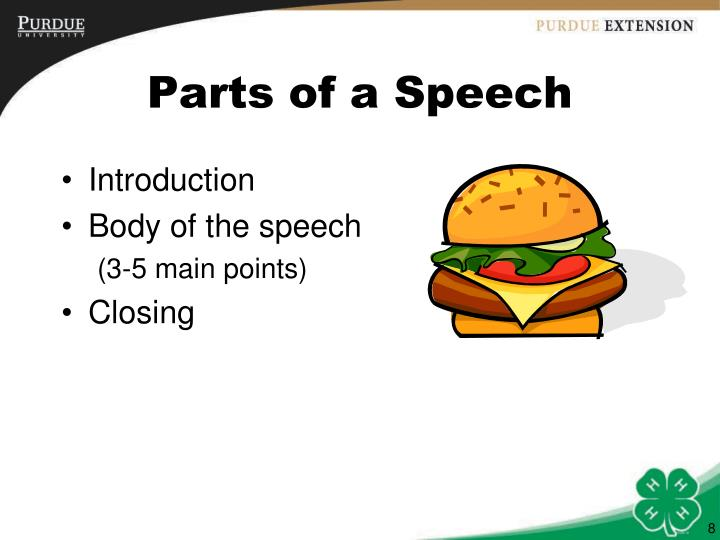 Parts of a Speech