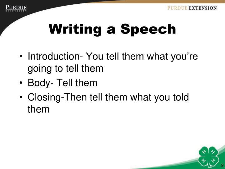 Writing a Speech