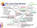 cpu cache state machine