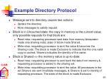 example directory protocol
