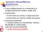 symmetric shared memory architectures