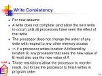 write consistency