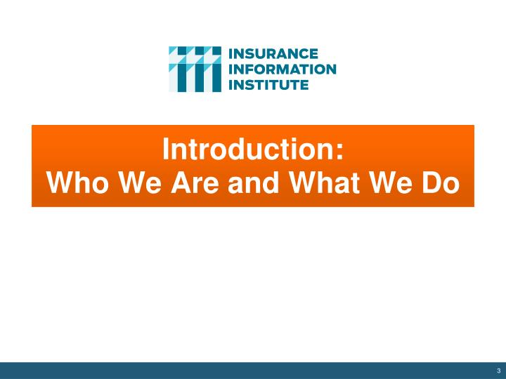 Introduction who we are and what we do