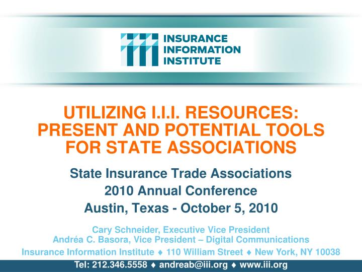 Utilizing i i i resources present and potential tools for state associations