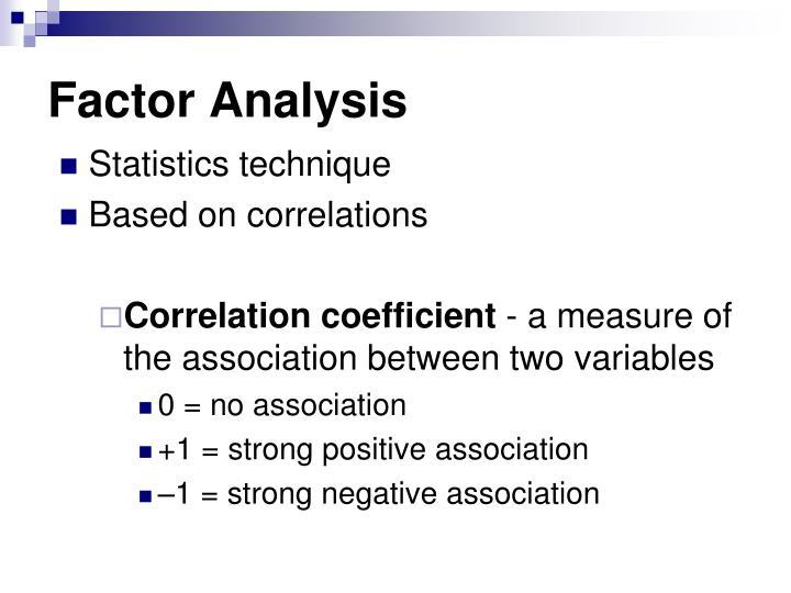 Factor analysis
