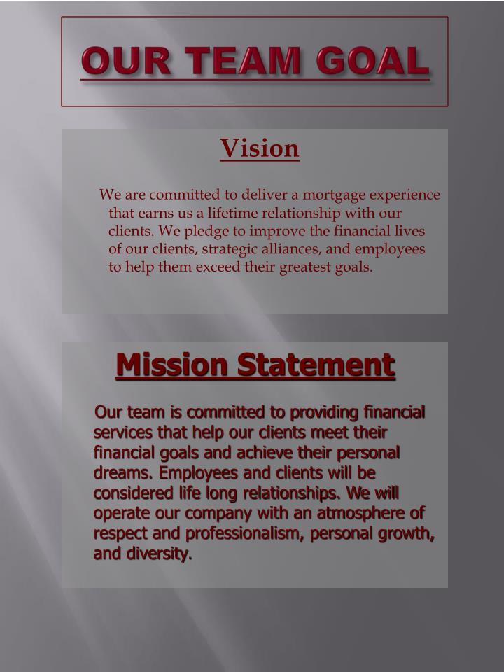 Our team goal