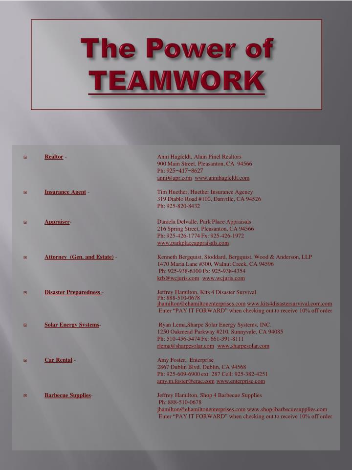 The power of teamwork