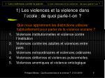 1 les violences et la violence dans l cole de quoi parle t on