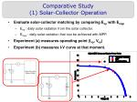 comparative study 1 solar collector operation