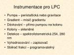 instrumentace pro lpc