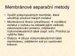 membr nov separa n metody