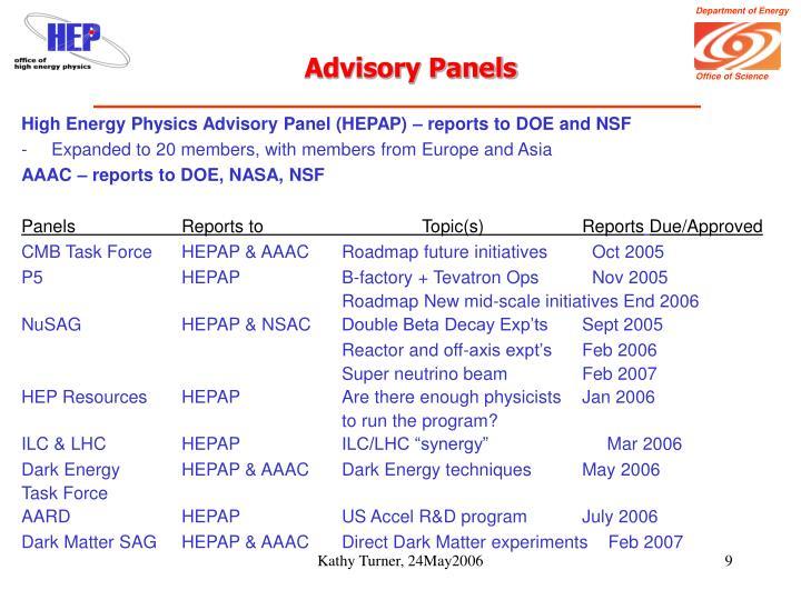 Advisory Panels