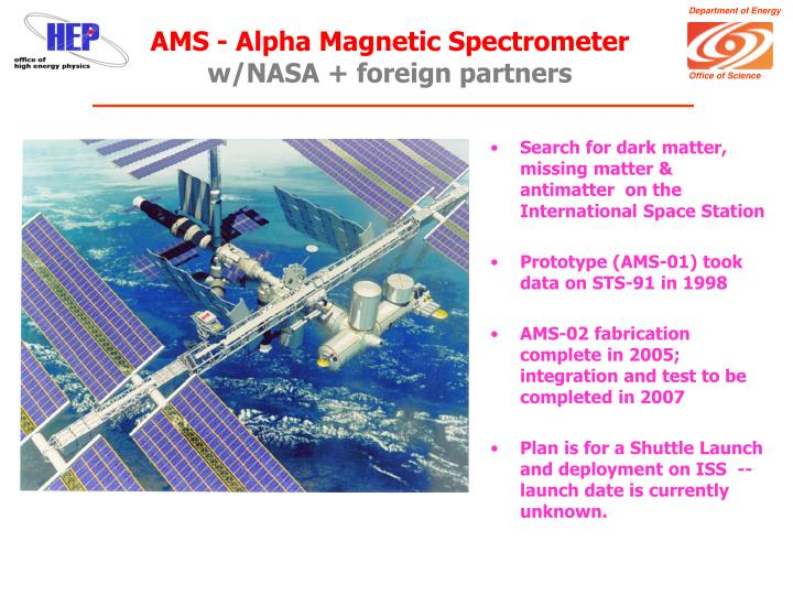 AMS - Alpha Magnetic Spectrometer