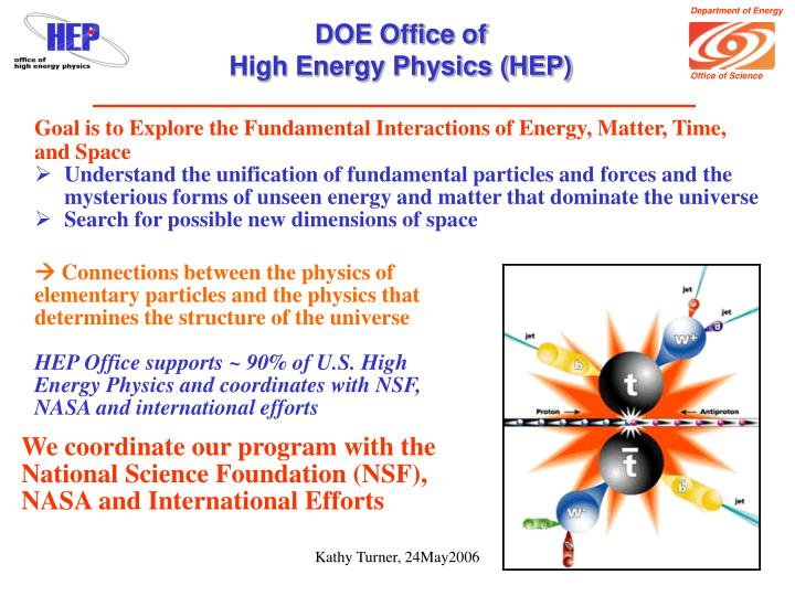 Doe office of high energy physics hep