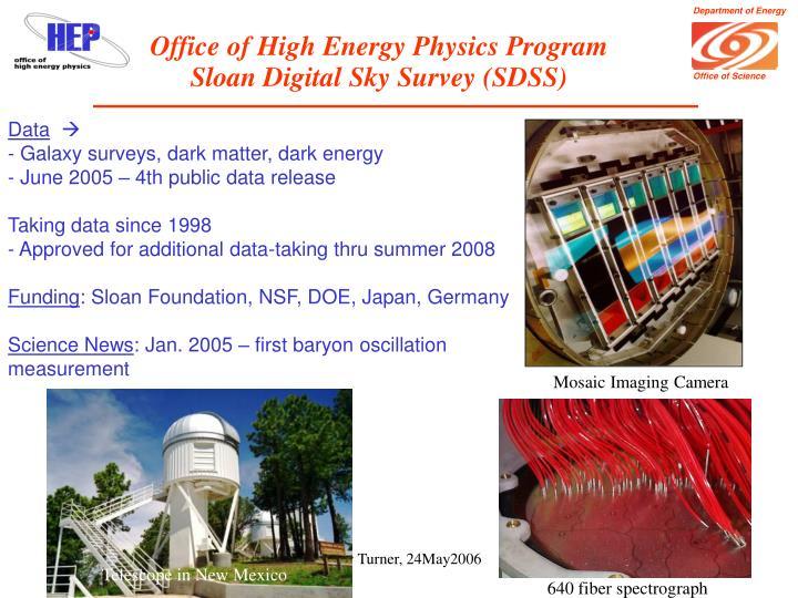 Office of High Energy Physics Program