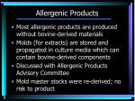 allergenic products