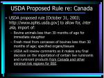 usda proposed rule re canada