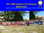 may 2004 alumni class reunion bbq picnic