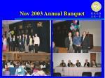 nov 2003 annual banquet
