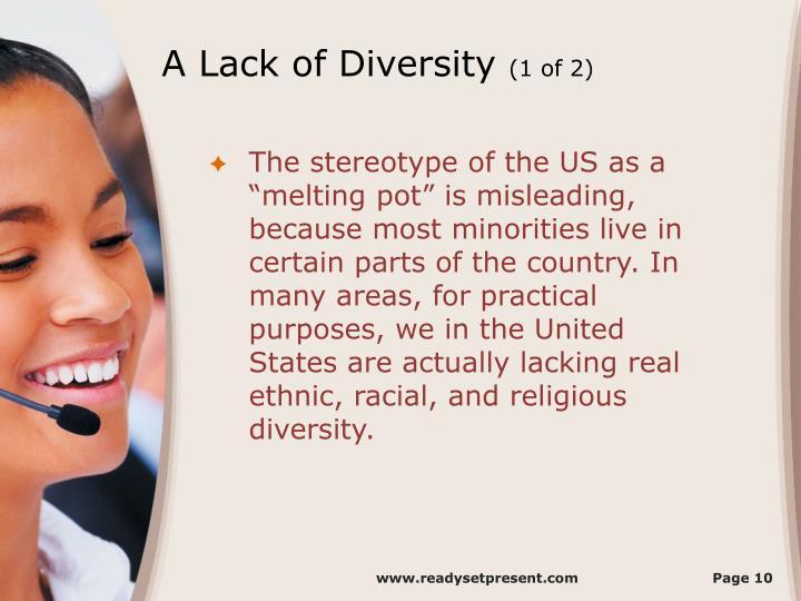 A Lack of Diversity
