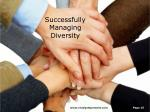 successfully managing diversity