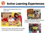 active learning experiences