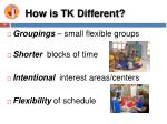 how is tk different