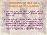 reflections bee as a business imperative1