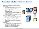 data cubes sql server analysis services