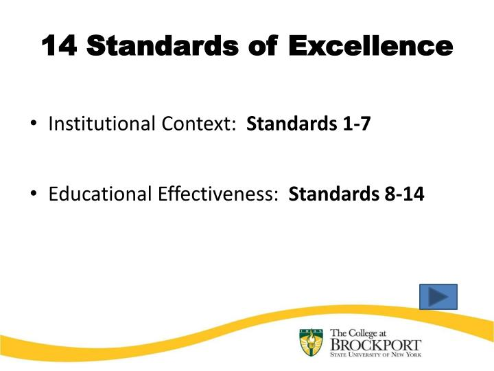 14 Standards of Excellence