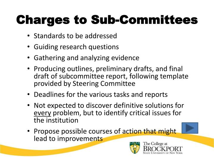 Charges to Sub-Committees
