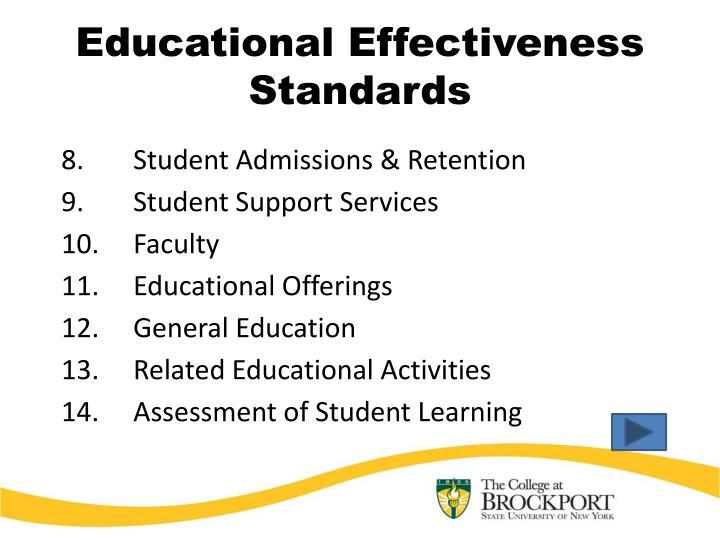 Educational Effectiveness Standards