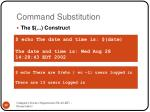 command substitution1