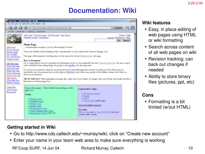 Getting started in Wiki